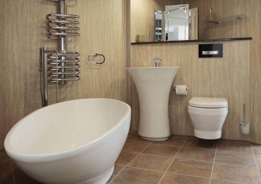 Respatex Wall Panel - Sandstone Bathroom